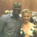 L-R: DARREN SAMMY AND MAYA BINKIN