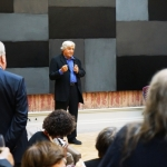 CHARLES IRVING ADDRESSING GUESTS AT THE ROYAL ACADEMY