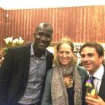 L-R: DARREN SAMMY, MRS. ALEXANDRA COLLINI AND MR. MARK COLLINI