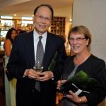 L-R: DR. CHIH-KUNG LIU, TAIWAN'S REPRESENTATIVE TO THE U.K., DR. MARIE-CLAIRE BILLINGTON